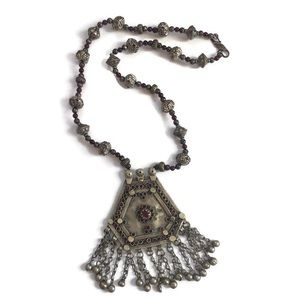 Jewelry - Antique Middle Eastern long kuchi necklace tribal